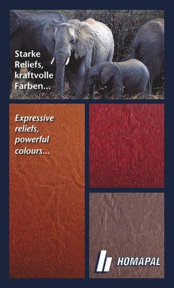 Starke Reliefs kraftvolle Farben.. Expressive reliefs powerful colours..