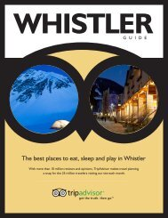 The best places to eat, sleep and play in Whistler - 2012 FME ...