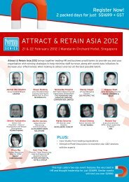 AttRAct & RetAiN AsiA 2012 - hrm awards 2013