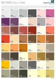 BS 4800 Colour Chart - Komfort