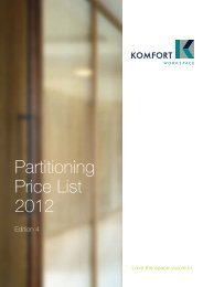 Partitioning Price List 2012 - Komfort