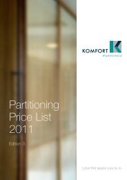 Partitioning Price List 2011