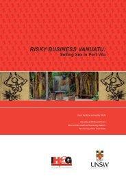 Risky Business Vanuatu: - Pacific Sexual & Reproductive Health ...