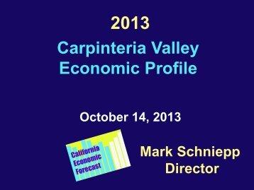 Economic Profile Presentation slides - City of Carpinteria