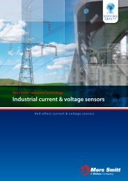 Industrial current & voltage sensors