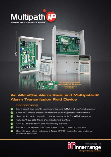 An All-In-One Alarm Panel and Multipath-IP Alarm Transmission Field Device