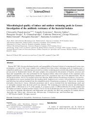 Microbiological quality of indoor and outdoor swimming pools in ...