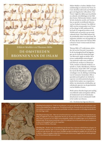 Aanvullende informatie over De omstreden bronnen van de islam