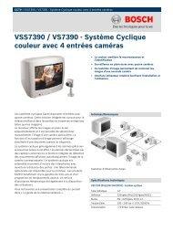 VSS7390 / VS7390 - Système Cyclique couleur avec 4 entrées caméras