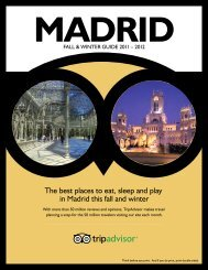 The best places to eat, sleep and play in Madrid this ... - TripAdvisor