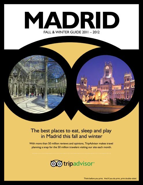 The Best Places To Eat Sleep And Play In Madrid This