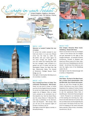 Europe in your Pocket - Vacations Exotica