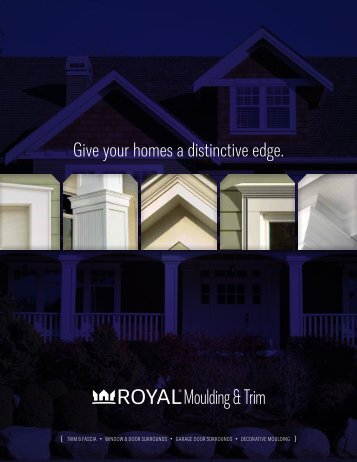 Give your homes a distinctive edge