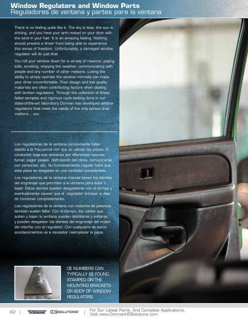 Dorman 741-655 Power Window Regulator w// Motor Front Left