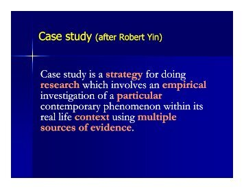 Case study Case study Case study is a strategy ... - Senior Sequence