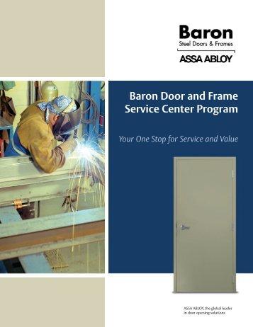 Baron Door and Frame Service Center Program