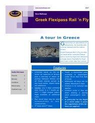 Greek Flexipass Rail 'n Fly A tour in Greece - Euro Railways