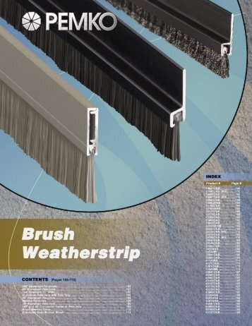 Brush Weatherstrip