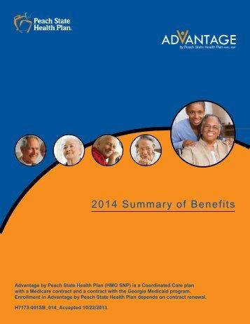 2014 Summar y of Benefits