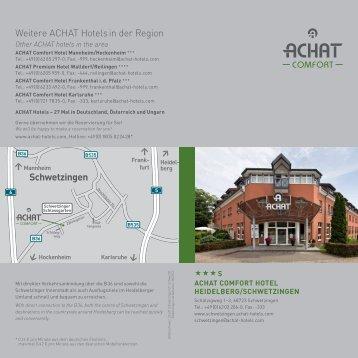 Schwetzingen Weitere ACHAT Hotels in der Region