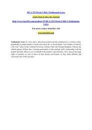 HCA 322 Week 2 DQ 1 Euthanasia Laws