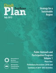 Strategy for a Sustainable Region - One Bay Area