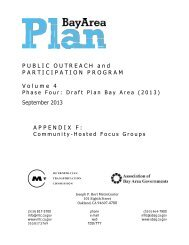 PUBLIC OUTREACH and PARTICIPATION ... - One Bay Area