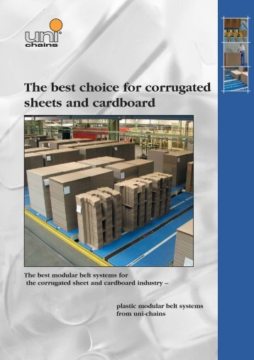 The best choice for corrugated sheets and cardboard