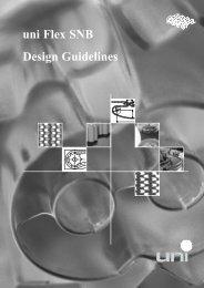 Design Guidelines uni Flex SNB