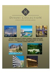 Divani Collection is a Hotel company which owns and ... - eibtm