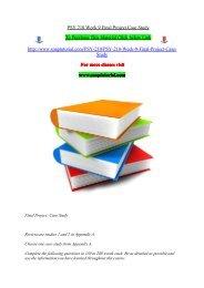 PSY 210 Week 9 Final Project Case Study