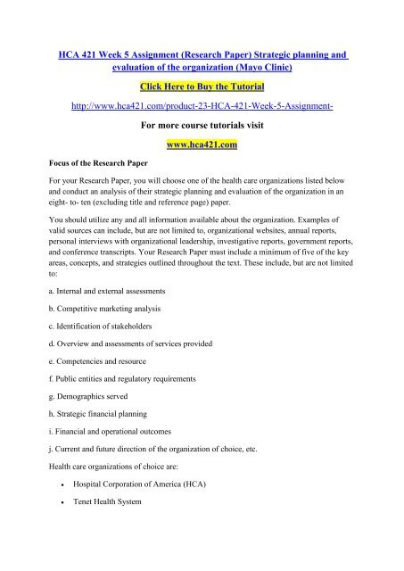 organization of research paper