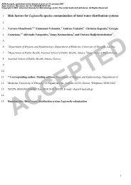 Risk factors for Legionella species contamination of hotel water ...