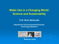 Water Use in a Changing World Science and Sustainability
