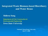 Integrated Waste Biomass-based Biorefinery and Water Reuse