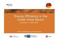 Energy Efficiency in the Greek Hotel Sector Greek Hotel Sector