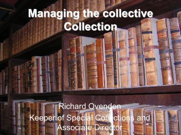 Managing the collective Collection -  OCLC