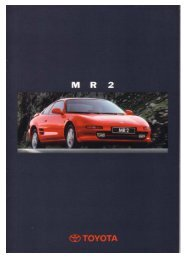 Toyota MR2 Prospekt 1996 - MR2 Club Schweiz