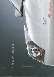 Prospekt 2000 - MR2 Club Schweiz