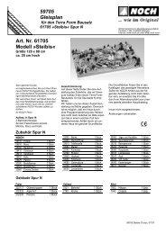 59705 Gleisplan Art. Nr. 61705 Modell »Steibis« - Noch