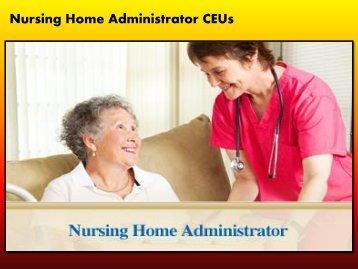Executive Director / ED / Nursing Home Administrator / NHA / LNHA