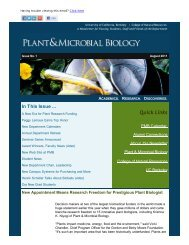 News from Plant & Microb...of California, Berkeley - Department of ...