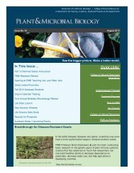 l - Department of Plant & Microbial Biology - University of California ...