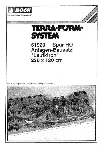 """Die fertig aufgebaute TERRAFORM-Aniage """"Leutkirch"""" - Noch"""