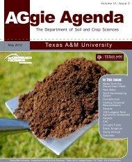 Aggie Agenda 67 - Volume VI Issue 3, May 2012 - Department of ...