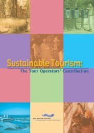 Sustainable Tourism: The Tour Operators' Contribution