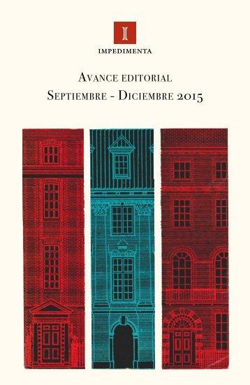 Avance Septiembre - Diciembre 2015