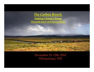 The Carbon Ranch