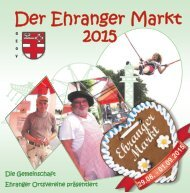 Der Ehranger Markt 2015