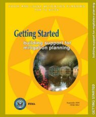 building support for mitigation planning